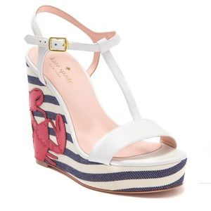 Kate Spade Deacon Lobster Wedges Nautical Ankle